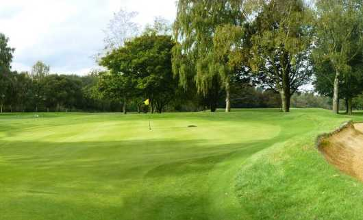 A view of the 2nd green at Oxley Park Golf Club