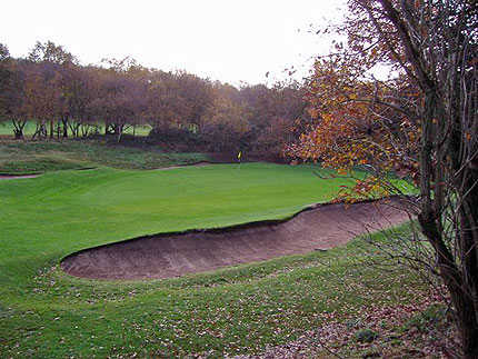 A view of green #7 at Sandwell Park Golf Club