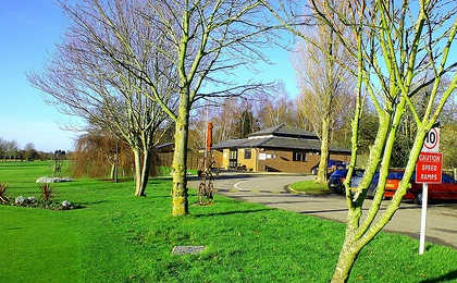 A view of the clubhouse at Avisford Park Golf Club