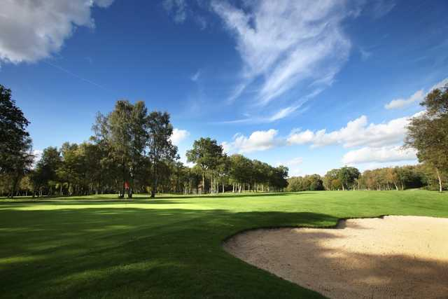 Greenside at the 11th hole at Copthorne Golf Club