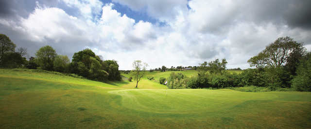 A view of a green at Cuckfield Golf Centre