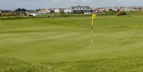 A view of the 5th green at Littlehampton Golf Club
