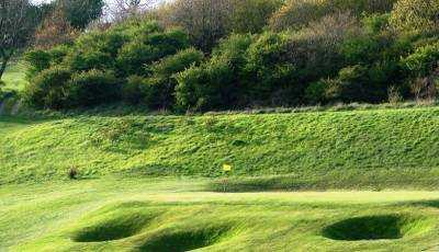 A view of the 8th green at Pyecombe Golf Club