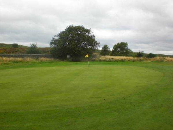 A view of the 1st green at Baildon Golf Club