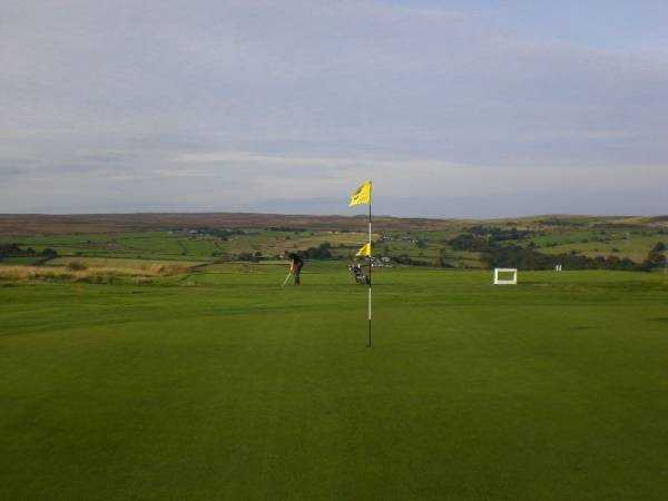 A view of hole #5 at Baildon Golf Club