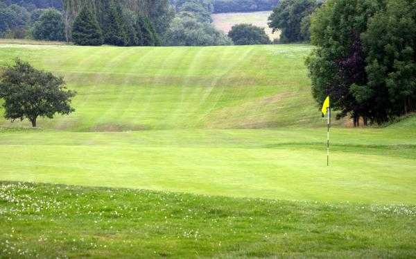A view of green #14 at Cleckheaton & District Golf Club