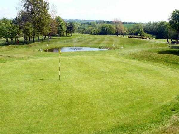A view of the 11th hole at Cleckheaton & District Golf Club