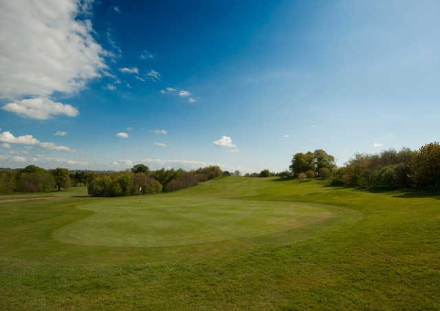 A view of the 9th green at Cookridge Hall Golf Club
