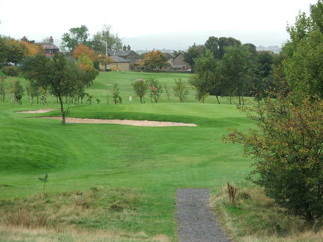 A view of the 7th green at East Bierley Golf Club
