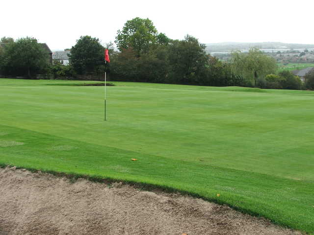 A view of hole #9 at East Bierley Golf Club