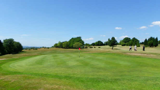 A view of a green at Hanging Heaton Golf Club