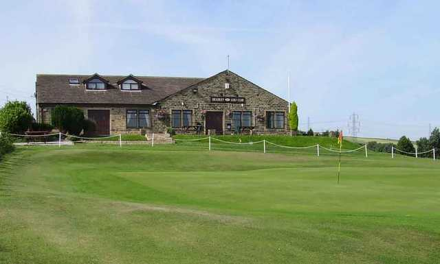A view of the clubhouse at Headley Golf Club