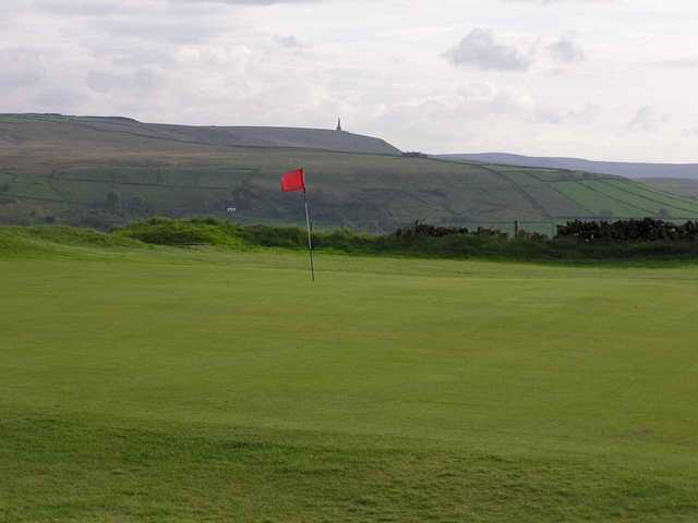 A view of hole #4 at Hebden Bridge Golf Club