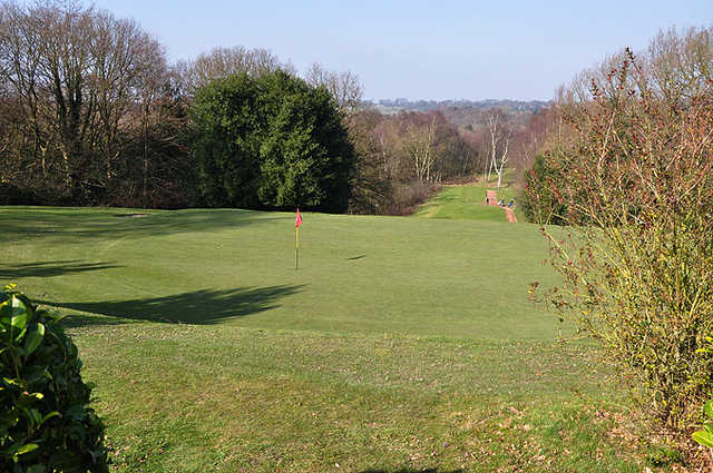 A view of green #15 at Leeds Golf Club