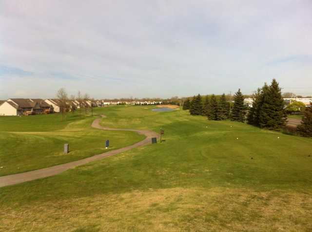 View of the #18 from behind the back tees at Gateway Golf Club