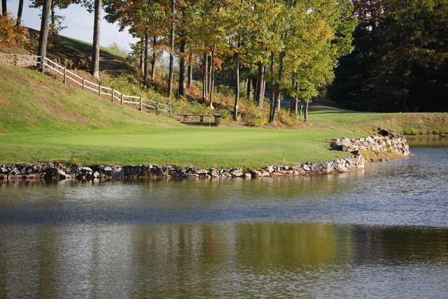 View of a green at Hanging Rock Golf Club