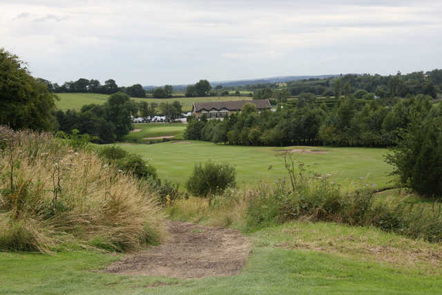 A view of fairway #9 at High Course from Moor Allerton Golf Club.