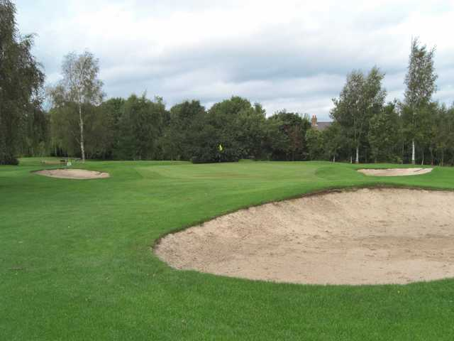 A view of the 15th green at Pontefract & District Golf Club