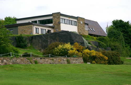 A view of the clubhouse at Rawdon Golf & Lawn Tennis Club