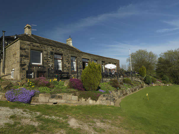 A view of the clubhouse at Todmorden Golf Club