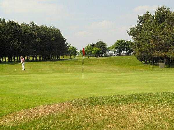 A view of green #15 at West End Golf Club