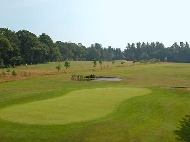 A view of green #3 at Hamptworth Golf & Country Club