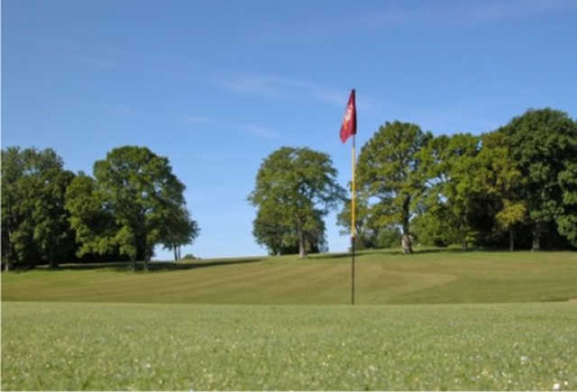 A view of the 16th hole at Hamptworth Golf & Country Club