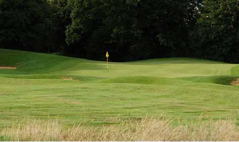 A view of the 2nd green at Marlborough Golf Club