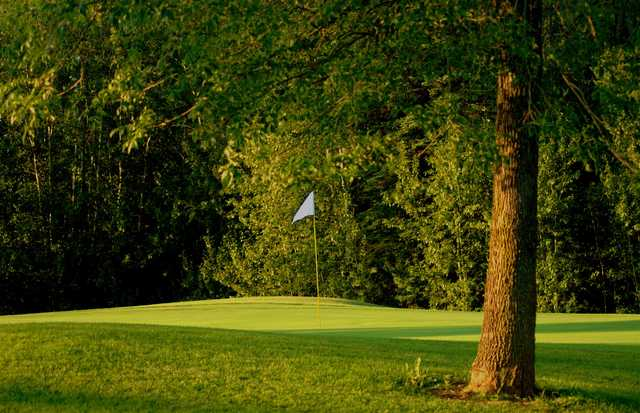 View of a green at Nemadji Golf Course