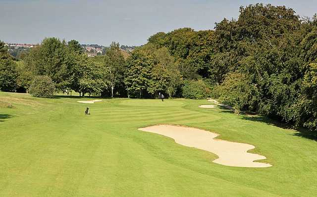 A view of the 16th fairway at Cathedral Course from Salisbury & South Wilts Golf Club