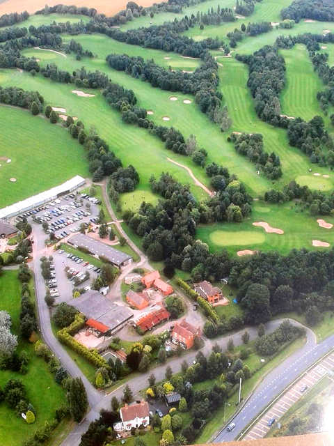 Aerial view from Bromsgrove Golf Centre