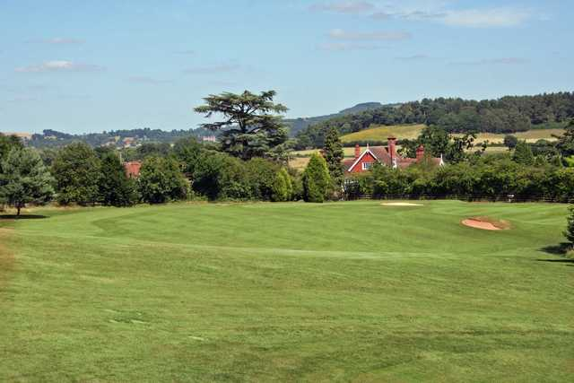 A view from fairway #2 at Churchill & Blakedown Golf Club