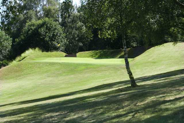 A view of green #3 at Churchill & Blakedown Golf Club