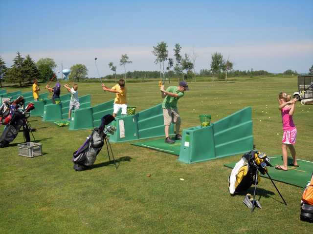 A view from the driving range tees at Nemadji Golf Course