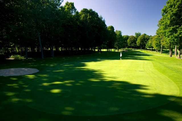 A view of green #14 at Gaylord Golf Club