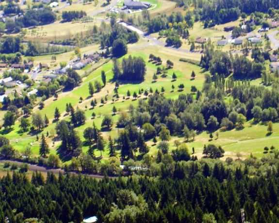 Aerial view of Beacon Rock Golf