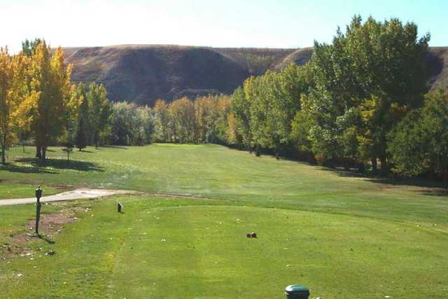 A view from tee #1 at Dinosaur Trail Golf and Country Club