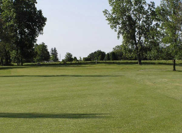 A view from fairway #3 at Ledge Meadows Golf Course