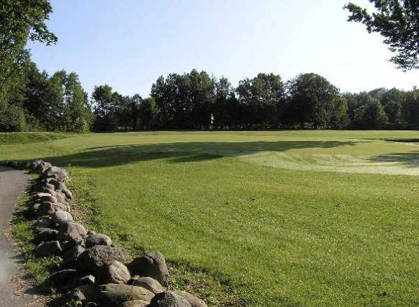 A view of green #4 at Ledge Meadows Golf Course