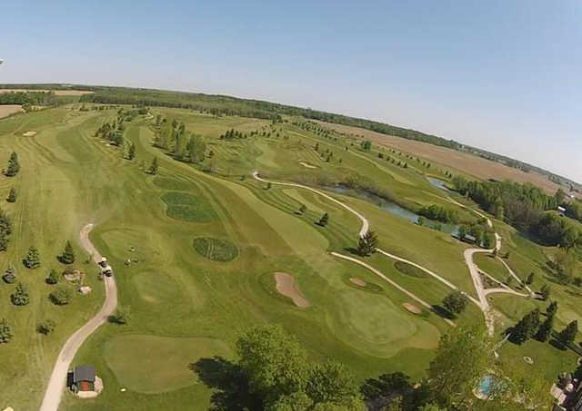 Aerial view from Fox Golf Club