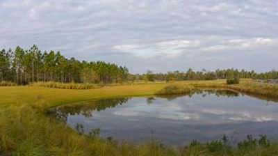 A view over the water from Origins Golf Club