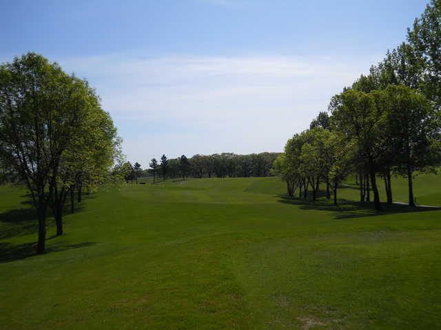 A view of fairway #18 at Kimball Golf Club
