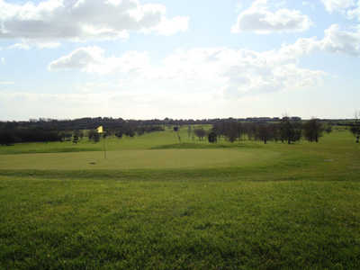 A view of the 9th green at Grove Golf Club