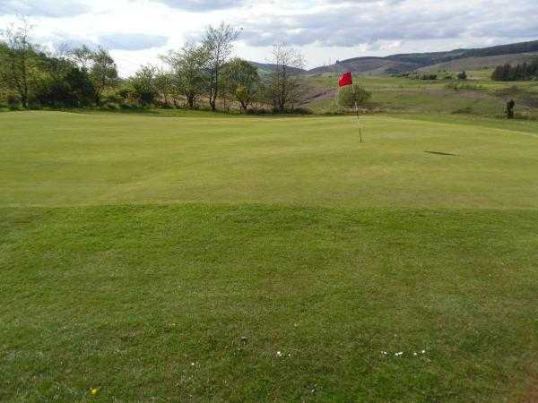A view of the 16th green at Maesteg Golf Club