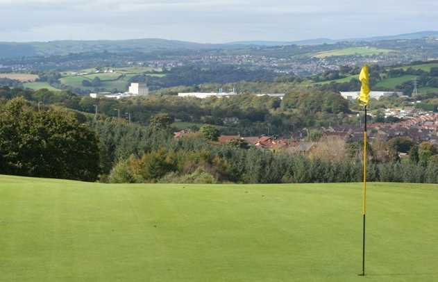 A view of hole #10 at Caerphilly Golf Club