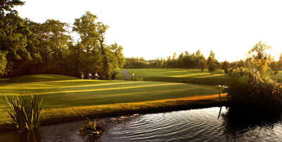 A view of the 18th hole at Lake Course from Vale Hotel, Golf and Spa Resort