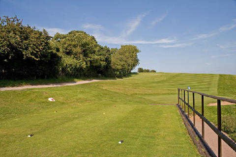 A view of from tee #14 at Dinas Powis Golf Club