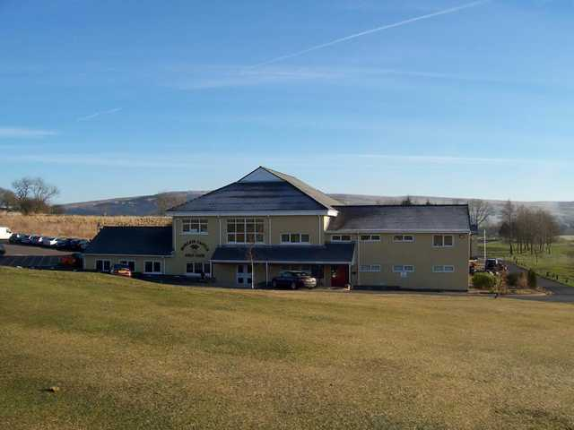 A view of the clubhouse at Morlais Castle Golf Club