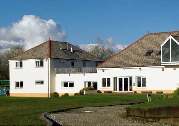 A view of the clubhouse at Haverfordwest Golf Club
