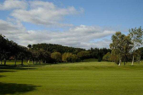 A view of green #1 at Builth Wells Golf Club